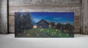 OHIO WHOLESALE 71411 Lighted Canvas Lighting Bugs 12 in x 28 in