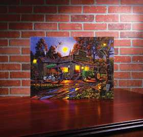 OHIO WHOLESALE 73133 Lighted Canvas SMOKEYS STORE 15 in x 20 in