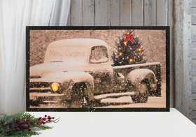 OHIO WHOLESALE X46506 Lighted Large Merry Christmas 24 in x 40 in Canvas Painting