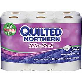 Georgia Pacific 87128511 Quilted Northern Ultra Plush Toilet Tissue