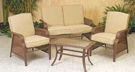 Osage Products 1557090 Boca Raton Wicker Patio Set