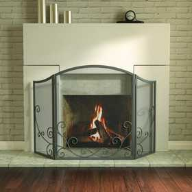 Panacea 15981 3 Panel Fireplace Screen Flourising Scroll