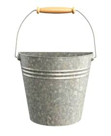 Panacea 83220 Vertical Wall Half Bucket With Handle Planter Aged Galvazined