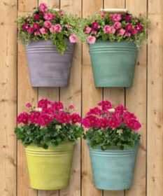 Panacea 83221 Vertical Wall Half Bucket With Handle Planter
