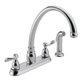 Peerless Faucet P99596 Two Handle High Arc Kitchen Faucet W/Spray