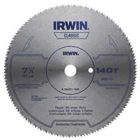 Irwin 21840ZR 7-1/4 in 140 Tooth Steel Circular Saw Blade