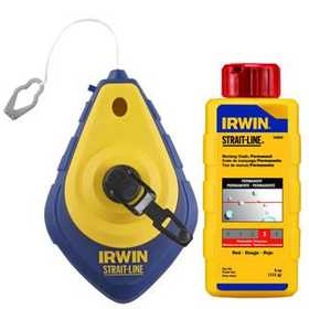 Irwin 64495 Speed-Line Chalk Reel And 4 oz Red Chalk Refill