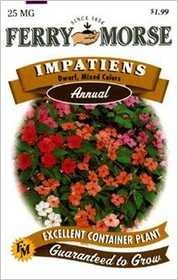 Ferry-Morse Seed Company 1063 Impatiens Dwarf Mixed Seeds