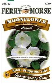 Ferry-Morse Seed Company 1090 Moonflower White Seeds