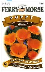 Ferry-Morse Seed Company 1124 Poppy Z-Scape Seeds