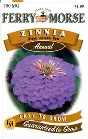 Ferry-Morse Seed Company 1172 Zinnia G D Lavender Seeds
