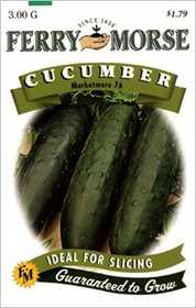 Ferry-Morse Seed Company 1277 Cucumber Marketmore Seeds
