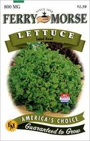 Ferry-Morse Seed Company 1305 Lettuce Salad Bowl Seeds