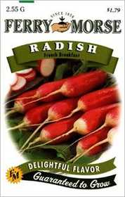 Ferry-Morse Seed Company 1358 Radish French Breakfast Seeds
