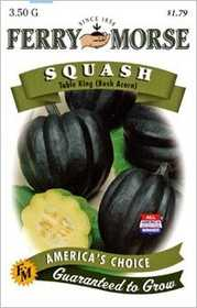 Ferry-Morse Seed Company 1382 Squash Table King B Acorn Seeds
