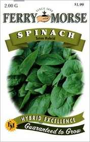 Ferry-Morse Seed Company 1492 Spinach Teton Hybrid Seeds