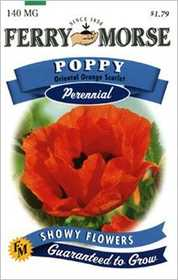 Ferry-Morse Seed Company 1697 Oriental Poppy Or Seeds