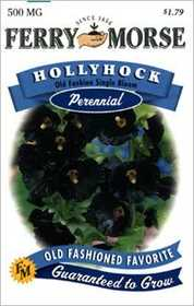 Ferry-Morse Seed Company 1895 Hollyhock Old Fashioned Seeds