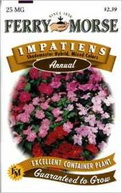 Ferry-Morse Seed Company 1981 Impatiens Shademastr Seeds