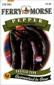 Ferry-Morse Seed Company 1988 Pepper Holy Mole Hybrid Seeds
