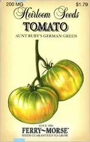Ferry-Morse Seed Company 3754 Tomato Aunt Rubys Seeds