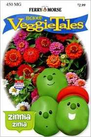 Ferry-Morse Seed Company 474 Veggie Tales Zinnia-Mixed Colors Seeds