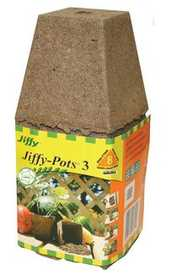 Ferry-Morse Seed Company 5312 Jiffy Peat Pots 3 in Sq 8pk