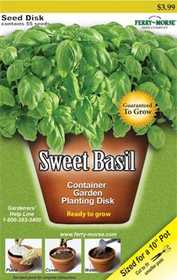 Ferry-Morse Seed Company 0802 Seed Disk Sweet Basil Seeds