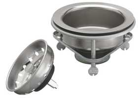 Keeney Mfg K5416 Screw Style Kitchen Basket Strainer Assembly, Stainless Steel