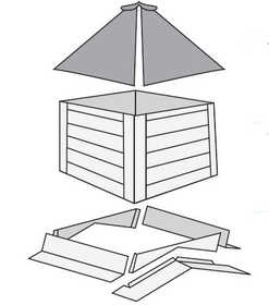 Plyco Corp MW-2C-RSF Cupola 2 ft Unassembled Roof/Side/Flashing