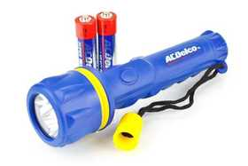 AC Delco AC463 WorkPro Rubber Flashlight With Batteries