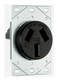 Legrand/Pass & Seymour 3890CC6 Receptacle 50a Flush 3p 3-Wire Non-Grounded-Range