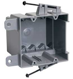 Legrand/Pass & Seymour S235RACS Screw Mount Steel Stud Box With Quick/Click