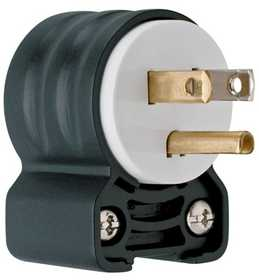 Legrand/Pass & Seymour PS5266SSANCCV4 Extra-Hard Use (ehu) Angled Devices - Plug, Black & White