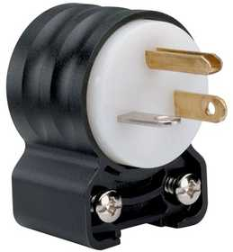 Legrand/Pass & Seymour PS5366SSANCCV4 Extra-Hard Use (ehu) Angled Devices - Plug, Black & White