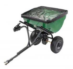 Precision Products TBS4500PRCGY Pro Series 100 Lb Tow Behind Broadcast Spreader With Rain Cover