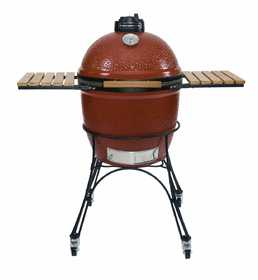 Kamado Joe Grills KJ23RH Classic 18 in Ceramic Grill With Cart And Shelves