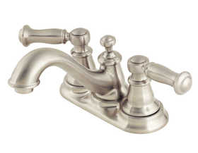 Pfister F048CTOK Lavatory Faucet 2-Handle 4-In Centerset Bristol Brushed Nickel