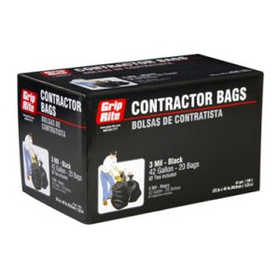 Prime Source GRAPCBAG20 42 Gal Contractor Trash Bags 20/Box