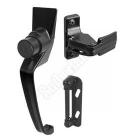Prime Line Products K 5082 Storm Door Latch Push B W/11/2hol Center Black