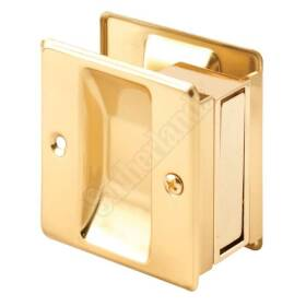 Prime Line Products N 6770 Latch & Pull Pocket Door Brass