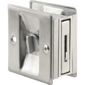 Prime Line Products N 7161 Lock/Pull Pocket Door Satin Chrome