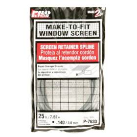 Prime Line Products P 7633 Window Screen Spline .140di 25 ft Gray