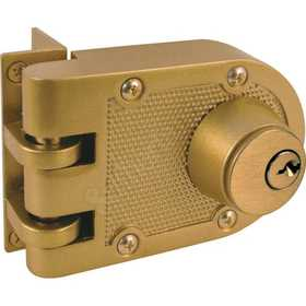 Prime Line Products U 9972 Deadlock Jimmy Proof Double Cylinder Brass