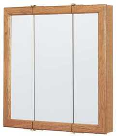 Continental Cabinets CBT24-11-B 24 in Tri-View Mirrored Medicine Cabinet