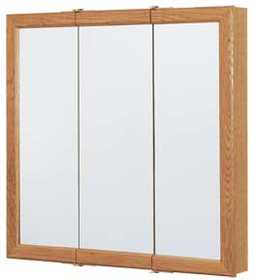 Continental Cabinets CBT30-11-B 30 in Tri-View Mirrored Medicine Cabinet
