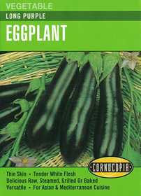 Cornucopia Garden Seeds 245 Long Purple Eggplant Seeds