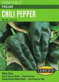 Cornucopia Garden Seeds 282 Poblano Chili Pepper Seeds