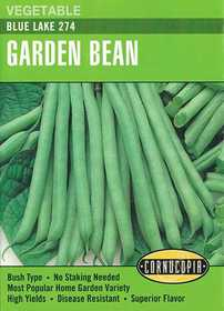 Cornucopia Garden Seeds 187 Blue Lake 274 Garden Bean Seeds