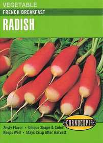 Cornucopia Garden Seeds 172 French Breakfast Radish Seeds